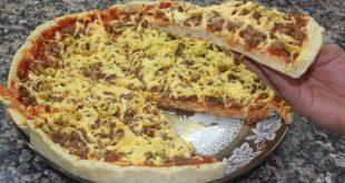 كيفية تحضير البيتزا , اسهل طريقة لعمل البيتزا في المنزل