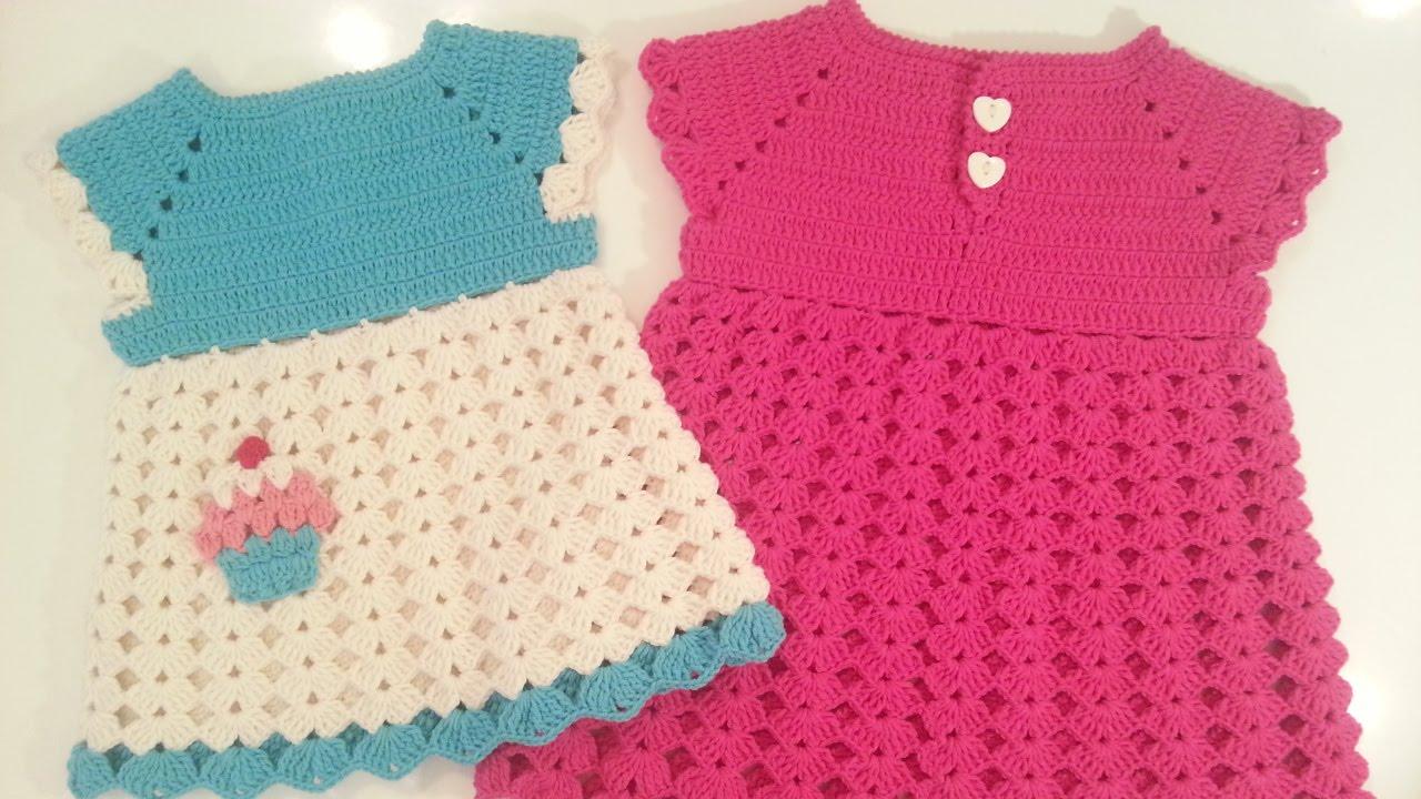 بالصور فساتين اطفال كروشيه , اجمل الفساتين للاطفال بالكروشيه 2758 1