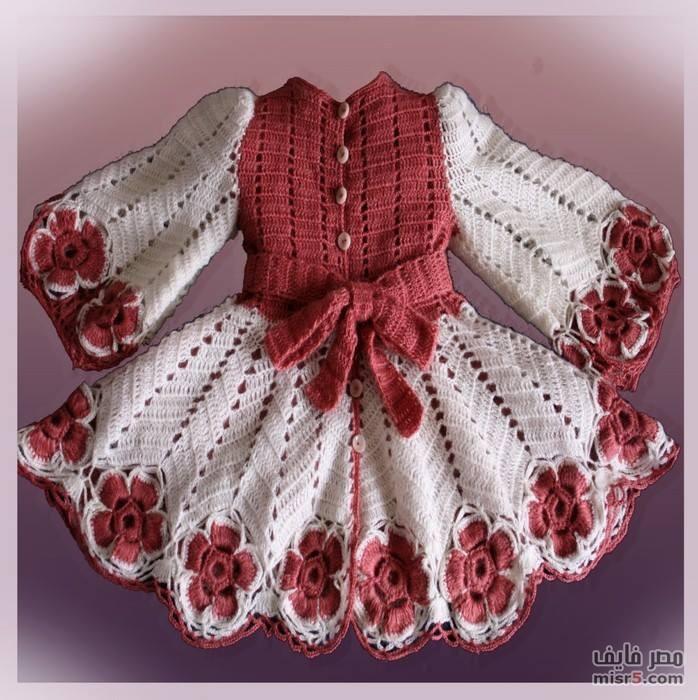 بالصور فساتين اطفال كروشيه , اجمل الفساتين للاطفال بالكروشيه 2758 10