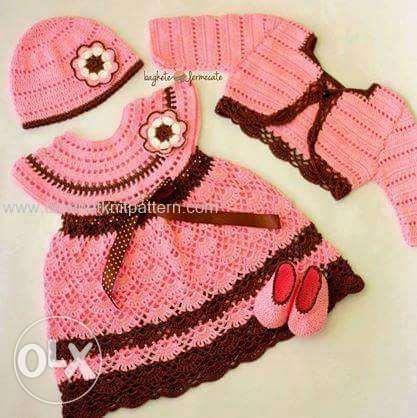 بالصور فساتين اطفال كروشيه , اجمل الفساتين للاطفال بالكروشيه 2758 11