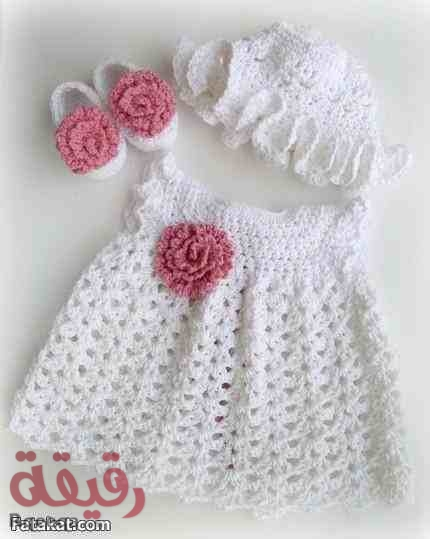 بالصور فساتين اطفال كروشيه , اجمل الفساتين للاطفال بالكروشيه 2758 2
