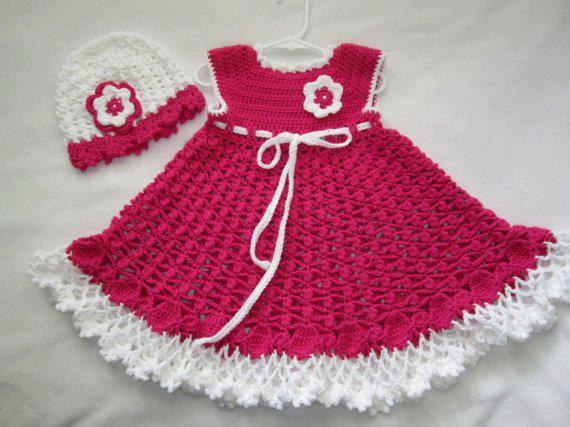 بالصور فساتين اطفال كروشيه , اجمل الفساتين للاطفال بالكروشيه 2758 3