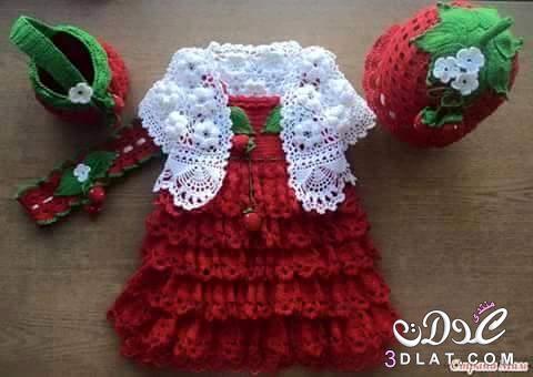 بالصور فساتين اطفال كروشيه , اجمل الفساتين للاطفال بالكروشيه 2758 5