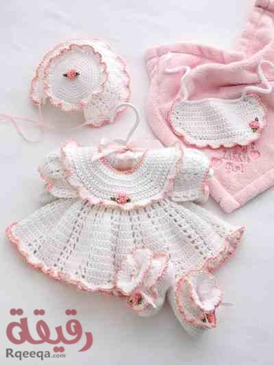 بالصور فساتين اطفال كروشيه , اجمل الفساتين للاطفال بالكروشيه 2758 7