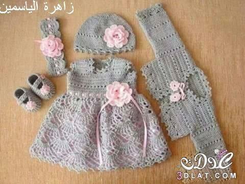 بالصور فساتين اطفال كروشيه , اجمل الفساتين للاطفال بالكروشيه 2758 9