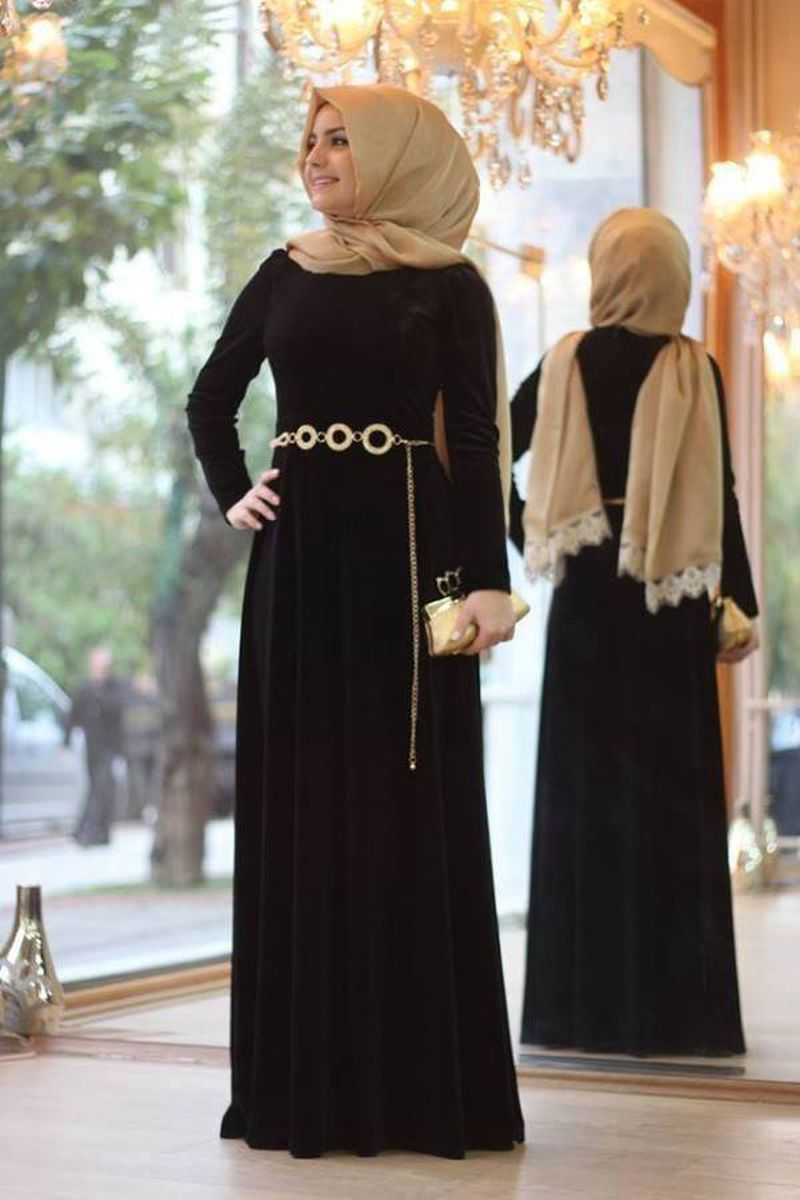 صورة اجمل الفساتين للمحجبات , اجمل موديلات فساتين للمحجبات
