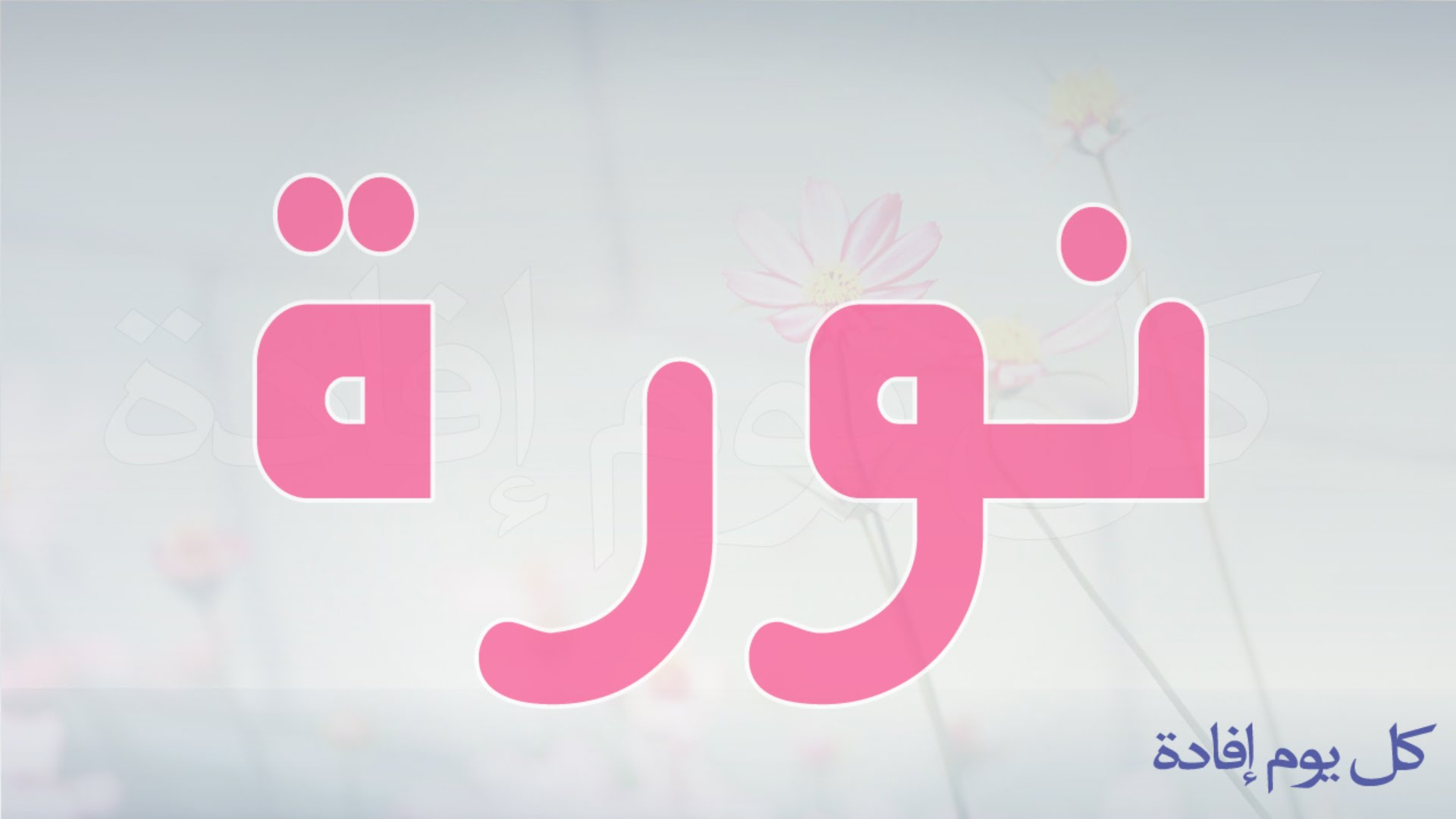 صوره معنى اسم نوره , معاني اسماء البنات