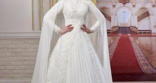 صورة فساتين اعراس للمحجبات , اجمل موديلات فساتين الزفاف
