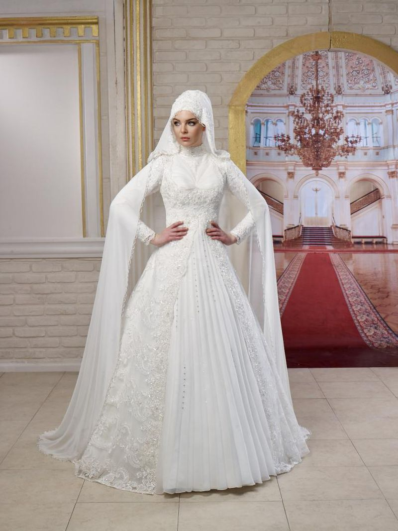 c6e876646 فساتين اعراس للمحجبات , اجمل موديلات فساتين الزفاف - بنات كول