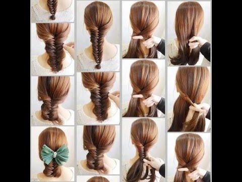 بالصور تسريحات للشعر الطويل بسيطة , الحديث و البسيط في تسريحات الشعر الطويل 1537 4