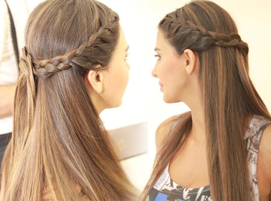 بالصور تسريحات للشعر الطويل بسيطة , الحديث و البسيط في تسريحات الشعر الطويل 1537 8