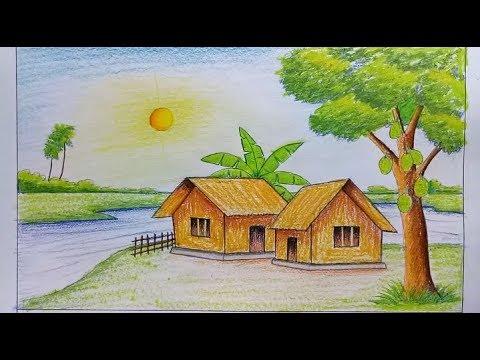 صور رسم منظر طبيعي سهل للاطفال , اجمل الرسومات الطبيعية السهلة للاطفال