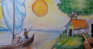 بالصور رسم منظر طبيعي سهل للاطفال , اجمل الرسومات الطبيعية السهلة للاطفال 1573 12 310x165