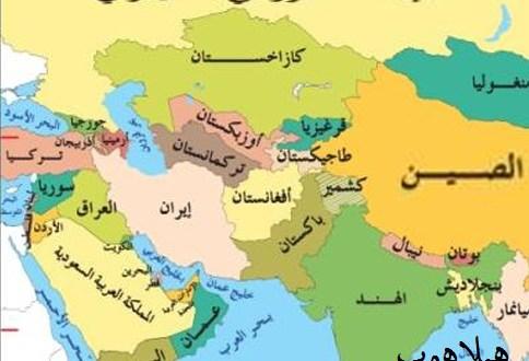 بالصور دول قارة اسيا , تعرف على خريطة اسيا 4822
