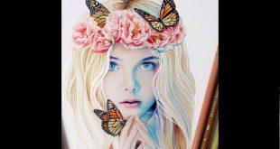 صوره رسومات بنات جميلة , اجمل صور مرسومة للبنات