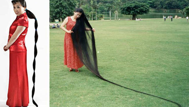 صوره اطول شعر في العالم , لن تشاهد اطول من هذا الشعر