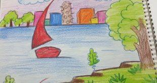 صور رسم منظر طبيعي للاطفال , اجمل الرسومات للاطفال