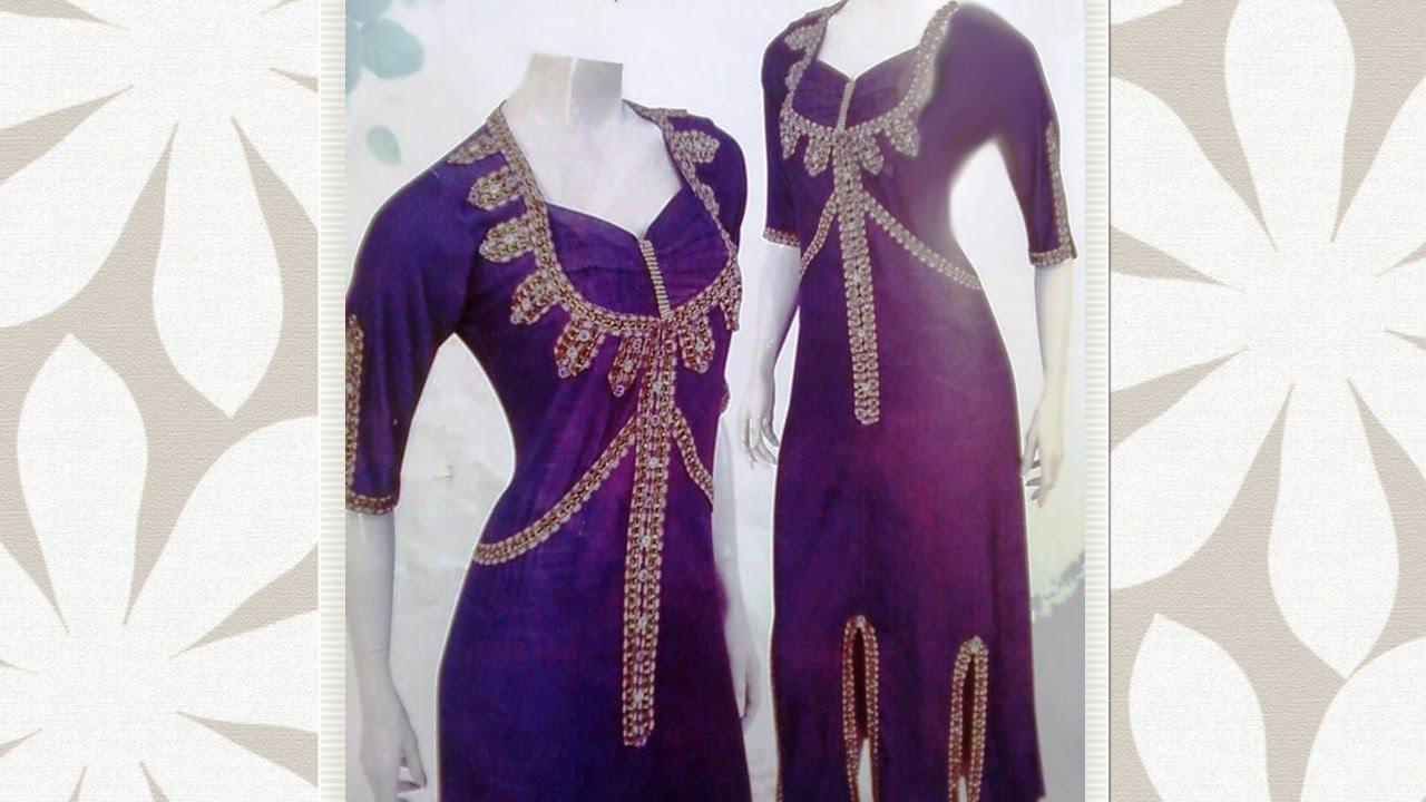 صورة احدث موديلات قنادر الصيف الجزائرية , ملابس جزائرية جميلة
