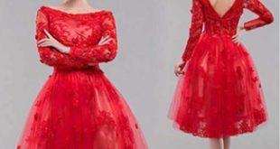 صور صور فساتين سهرة قصيرة , فستان جميل للسهرة