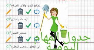 صورة تدابير منزلية , طريقة ترتيب الاعمال المنزلية