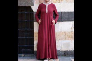 صورة موديلات حجابات جزائرية مخيطة , اجمل تصاميم للحجاب الجزائري