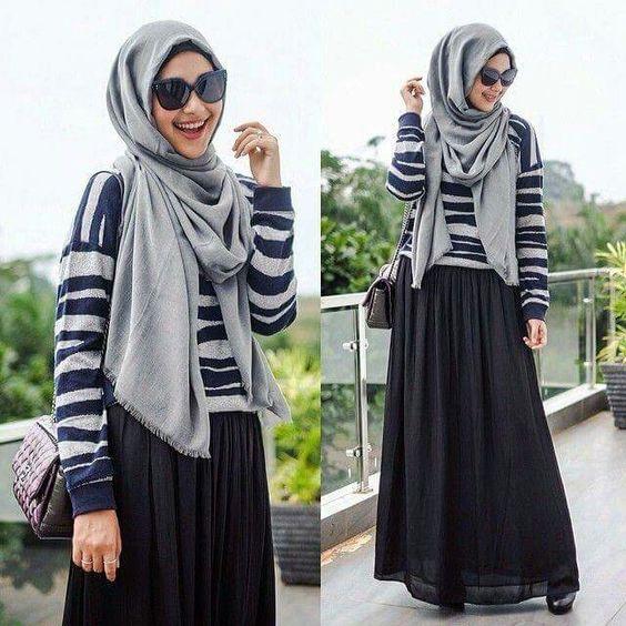 بالصور اشيك ملابس محجبات , اكتسبي اطلالة جذابة بحجابك 5109