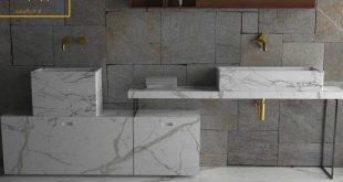 صورة مغاسل رخام مودرن , تصاميم عصريه لمغاسل الرخام