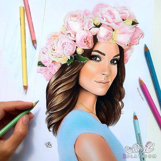 بالصور بنات رسم , رسومات فنيه رائعه 5453 4