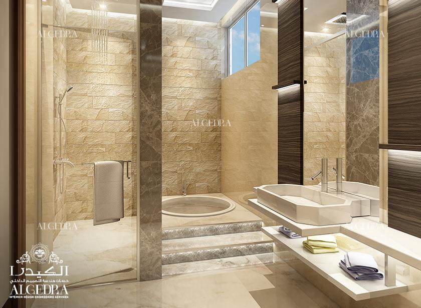 صورة تصميم حمامات , ديكورات حمامات عصريه
