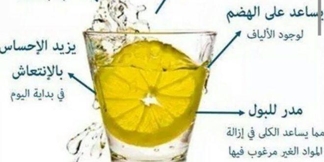 صورة فوائد شرب الماء بالليمون , فوائد شرب الليمون مع الماء البارد