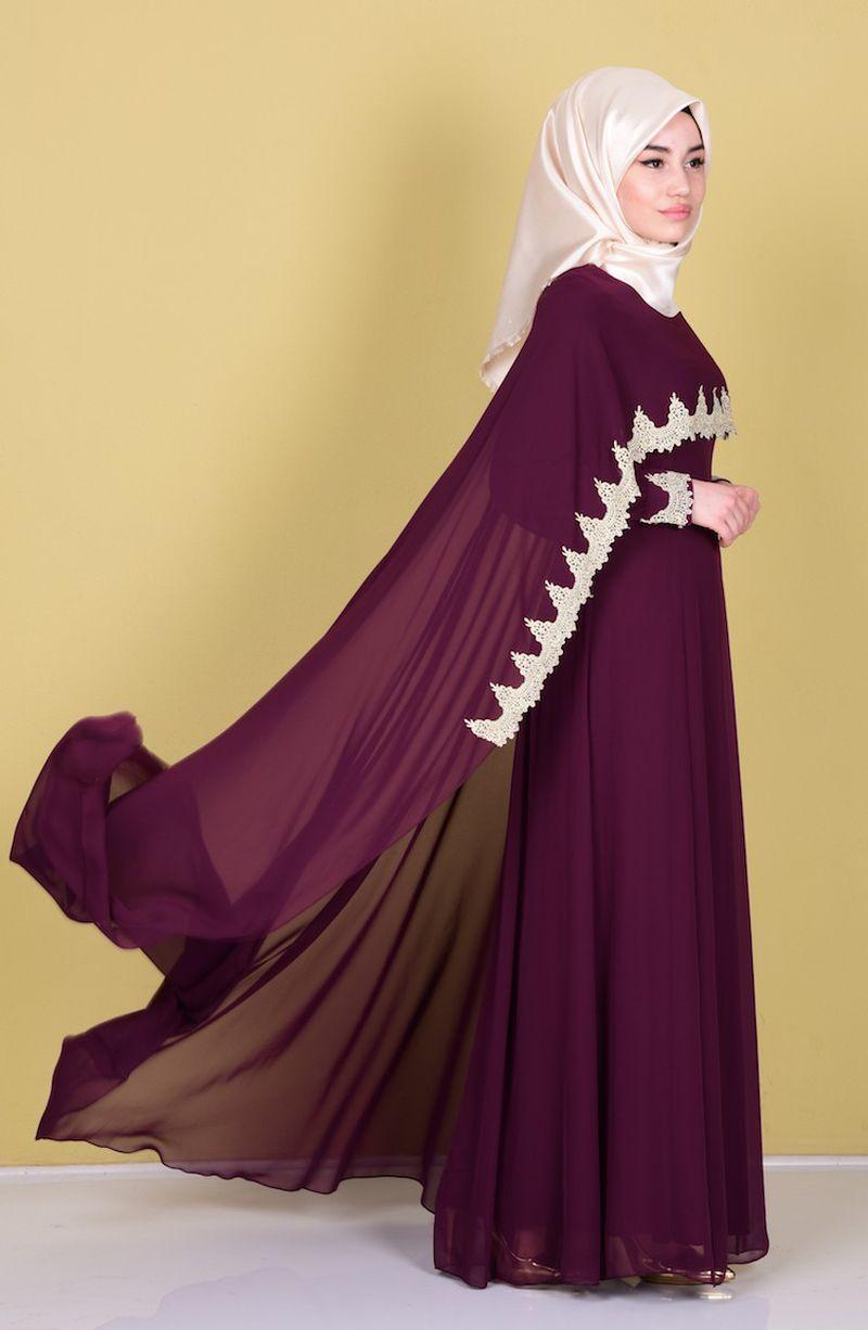 صور فستان سهرة محجبات , اهم فساتين المحجبات