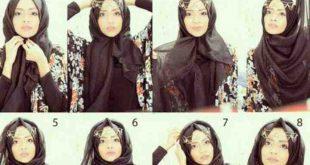 صورة كيفية لف الحجاب التركي , اهم لفات الطرح
