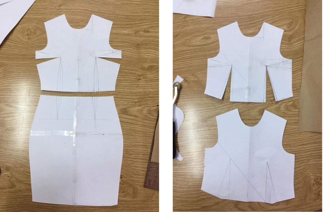 صور بترونات خياطة للمبتدئين , ورق مفصل باشكال الملابس