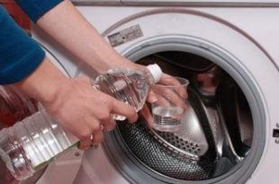 صور طريقة تنظيف الغسالة الاتوماتيك , دورة الخل لتنظيف الغسالة