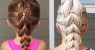 صورة تسريحات اطفال للشعر الطويل , اجدد تسريحات الشعر