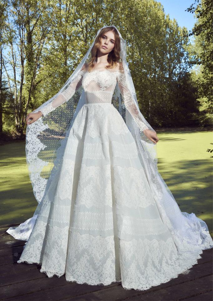 صورة فساتين زفاف زهير مراد 2019 , احدث صيحات ثوب العرس للمصمم زهير مراد