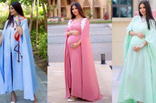 صورة فساتين للحوامل , اجمل ملابس للمراه الحامل