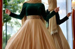 صورة صور فساتين محجبات , واحدث الموديلات لفستان المحجبات