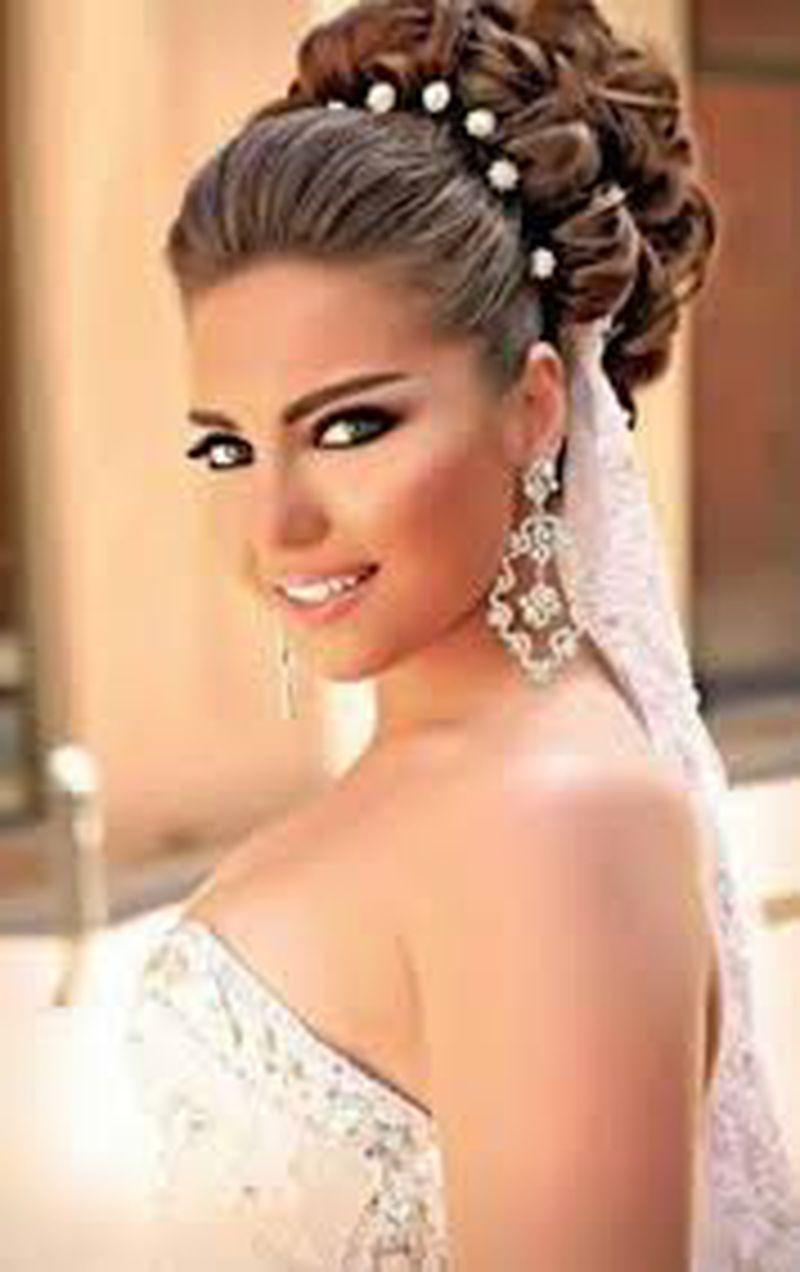 صورة تسريحات شعر عروس , واحدث تسريحات الشعر للعروس