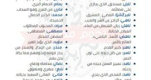 صورة اسماء ذكور, أفضل الإسماء للذكور
