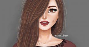 صورة رسومات لا مثيل لها عن احلى بنات ,رصور رسوم بنات